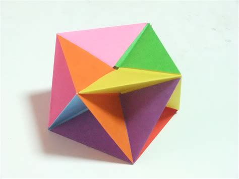 Modular Geometric Origami - modular polyhedra from waterbomb base units abstract