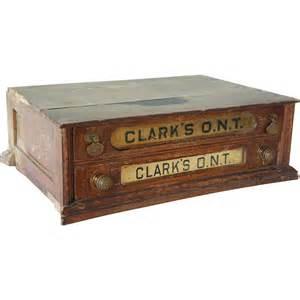 clark cabinet american clark s oak two drawer advertising spool cabinet