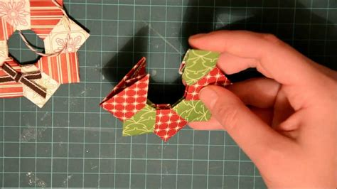 Origami Wreath Ornament - oragami wreath ornament
