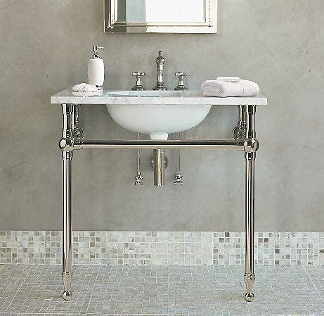white gramercy single metal washstand