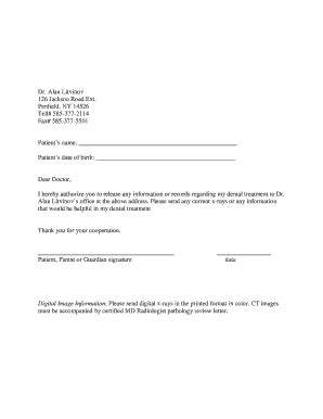 request letter for dental records dental records release form fill printable