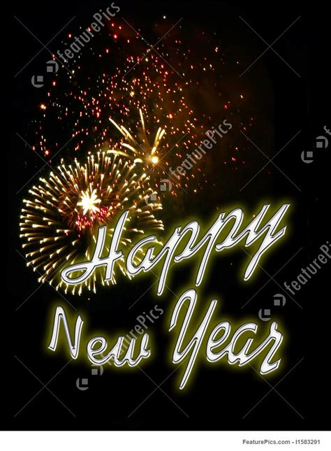 Fireworks Background - New Years Eve Free Clip Art Christmas Words