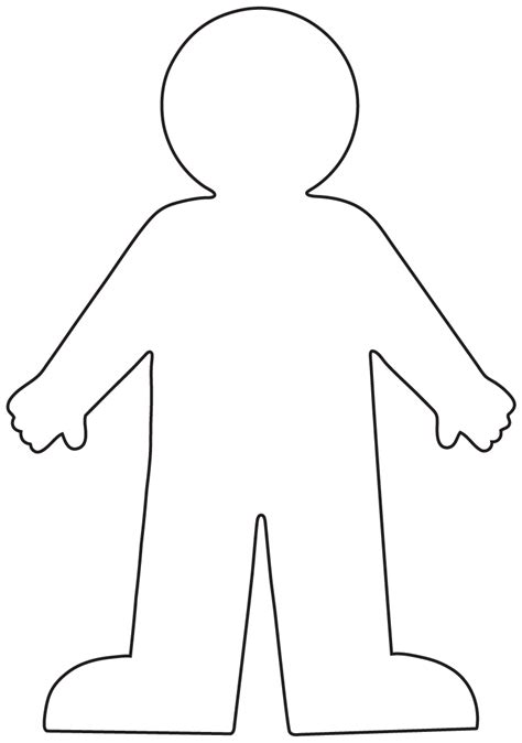 coloring page person outline of person coloring page coloring home