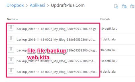 dropbox masuk cara backup wordpress step by step panduan terlengkap
