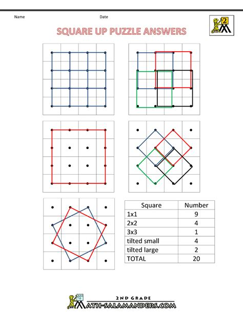 Puzzle Geometri geometry puzzle worksheets images