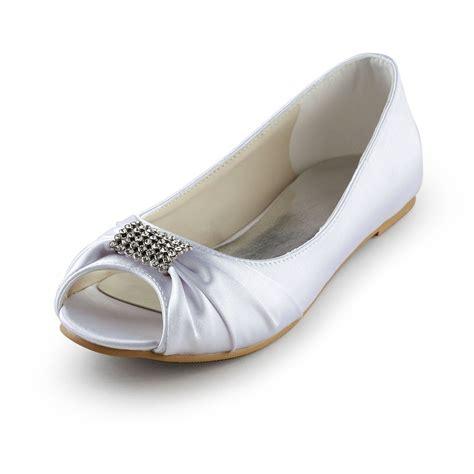 flat peep toe bridal shoes s satin flat heel peep toe sandals wedding shoes