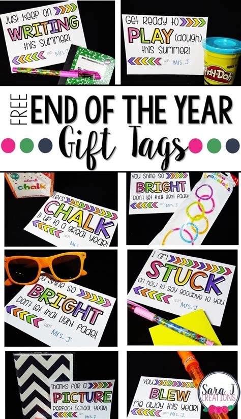 free gift ideas 10 free end of the year student gift tags free gifts