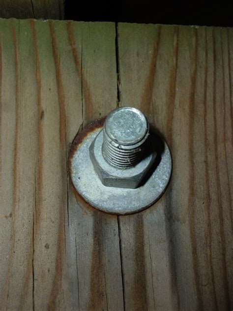 carriage bolts  deck attachments