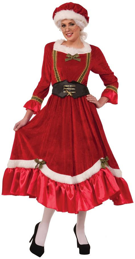 adult santa mrs claus woman christmas costume 54 99
