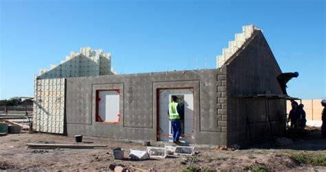 cost of building a new house low cost housing moladi south africa