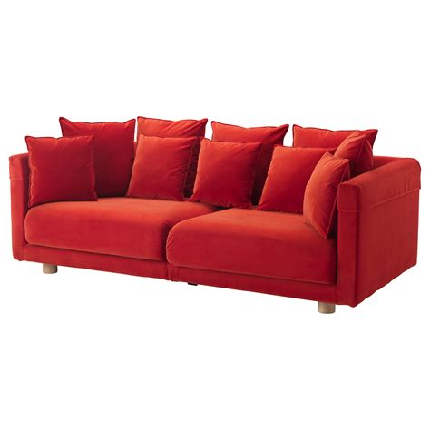 or sofa stockholm 2017 pouffe sandbacka orange 50x50 cm ikea