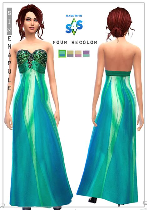 Formal dress for your sims four reecolor you can find this dress