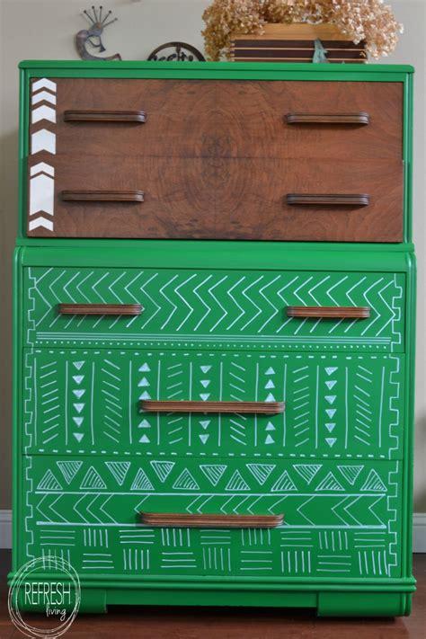 tribal pattern furniture emerald dresser with tribal print pattern refresh living