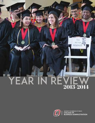 Unl Mba Reviews by College Of Business Administration Uno 2014 Annual Review