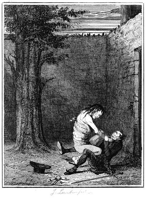 The Struggle – Old Book Illustrations