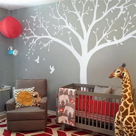 Giant Wall Stickers For Nursery high 2 4m giant bird baby cot side tree nursery wall