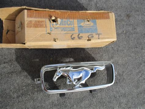 Nos Oem Ford 1966 Mustang Standard Grille Ornament Emblem Pony Corral Ebay Pony Ornament Shop Collectibles Daily