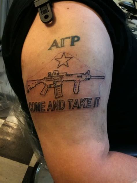 come and take it tattoo back gt gallery for gt come and take it tattoos pete eyre