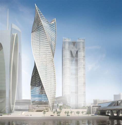 Leed House Plans by Swirling Skyscrapers Dubai S Cayan Tower Leads The