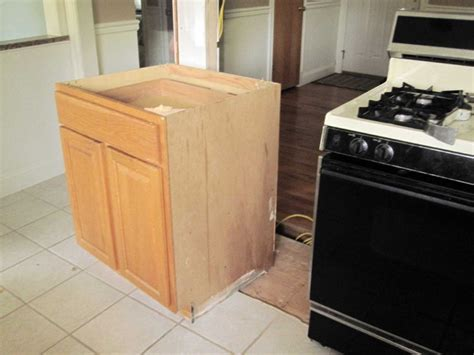 kitchen demo lower cabinet removal our humble abode