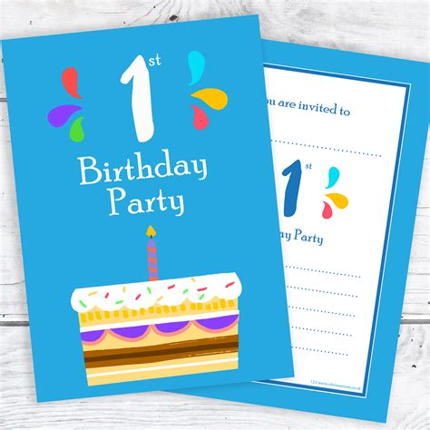 1st birthday invitations uk 1st birthday invitations blue cake design with envelopes pack of 10 samuel