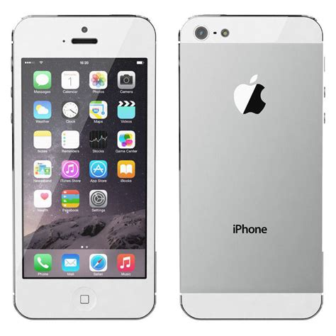 apple iphone 5 unlocked gsm smartphone 32gb white silver