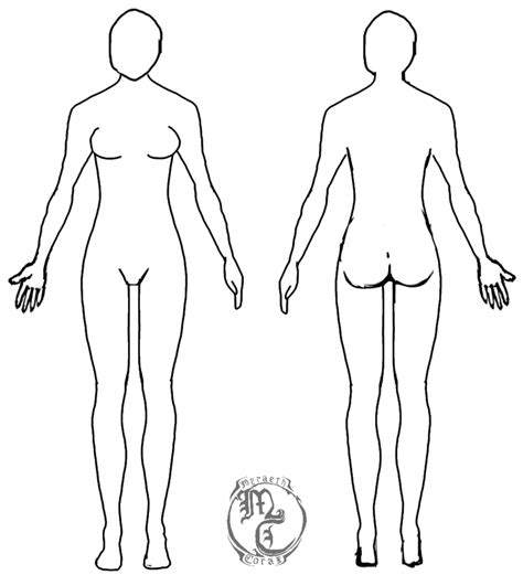 human body template female by myraethcorax on deviantart