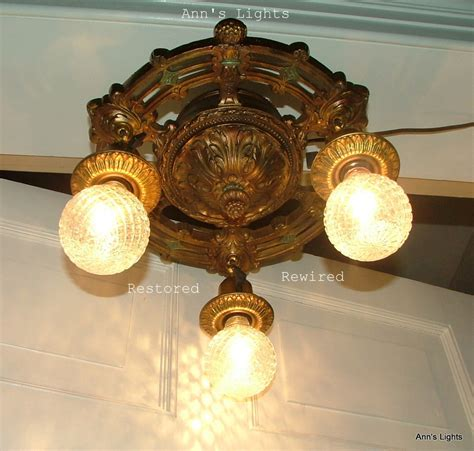 Antique Ceiling Light Fixtures Vintage Antique Lighting Fixture Exposed Bulb Ceiling L