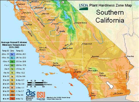 s california map plant hardiness zone maps southern california a