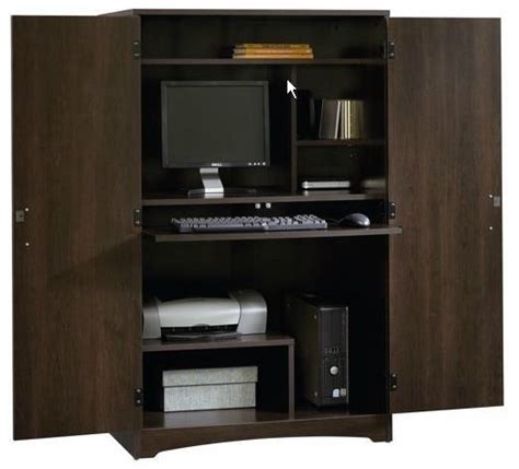 printer armoire sauder computer armoire storage cabinet office furniture