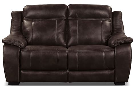 leather and fabric loveseat novo leather look fabric loveseat brown the brick