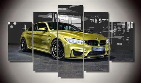 printable car wall art canvas prints poster home decor yellow bmw supercar cars