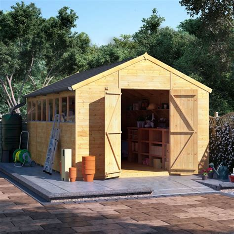 billyoh expert tongue and groove apex workshop garden sheds garden buildings direct