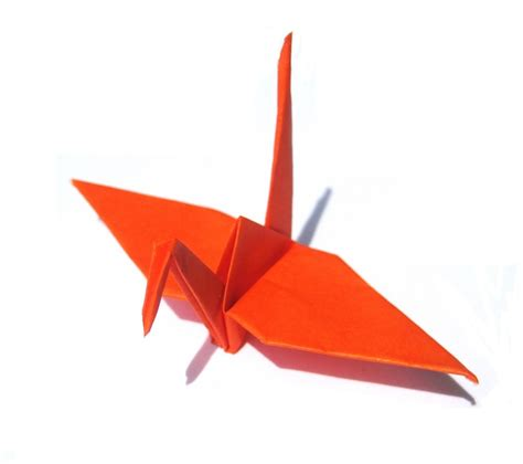 Orange Origami Paper - folded origami crane orange paper crane 50 japanese