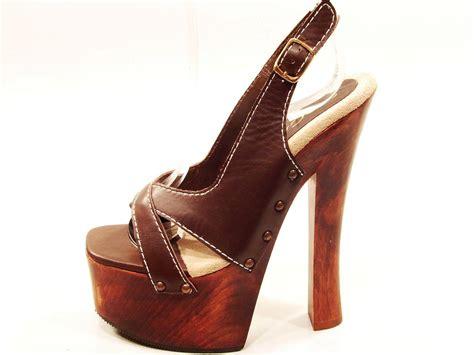 wood high heels womens soca high heel wood platform strappy slingback