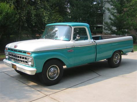 ford truck white 1965 ford truck carribean turquoise and wimbleton white