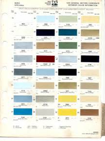 Buick Paint Codes Paint Chips 1979 Gm Buick