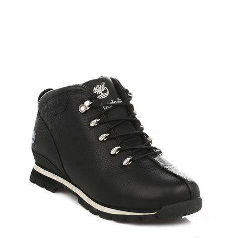 mens black boots casual timberland mens ankle boots black splitrock leather lace