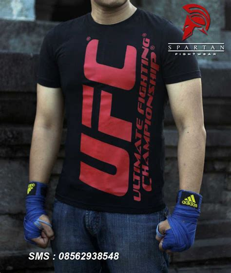 Kaos Distro Beladiri Muaythai The Ultimate Fighting jual baju ufc tutorial bela diri dan kaos beladiri