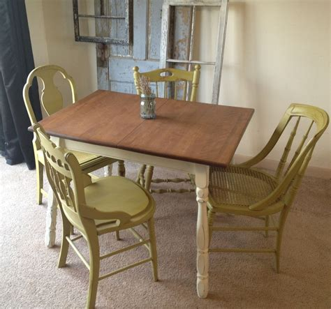 furniture kitchen table crafted vintage small kitchen table with four miss matched chairs by vintage hip decor