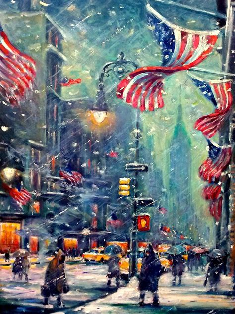 paint nite in nyc new york snowy painting by philip corley