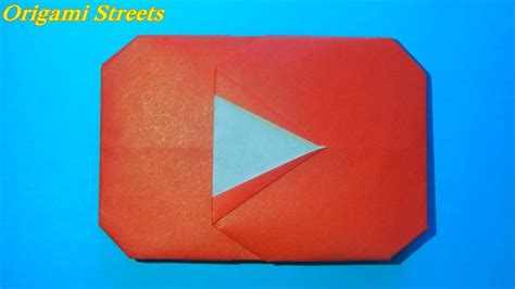 Play Origami - how to make a play button origami logo