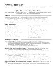 Quality Supervisor Resume by Resume Format For Quality Assurance Resume Exles 2017