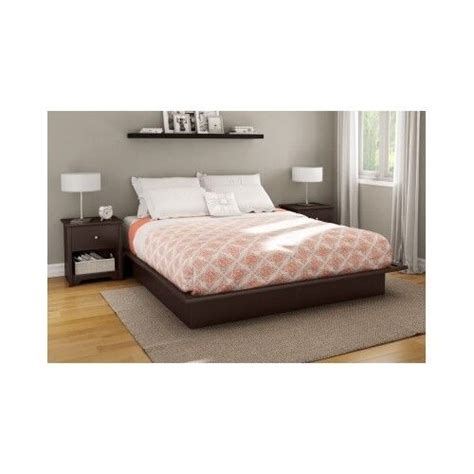 Contemporary Bed Frames by Size Platform Bed Frame With Storage Brown Wood