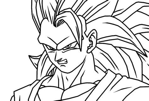 goku ss3 coloring pages ssj3 goku angry line art by johnseppala on deviantart