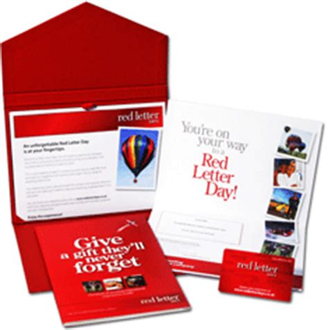 Red Letter Days Gift Card - uk gift cards gift vouchers gift certificates online red letter days gift vouchers