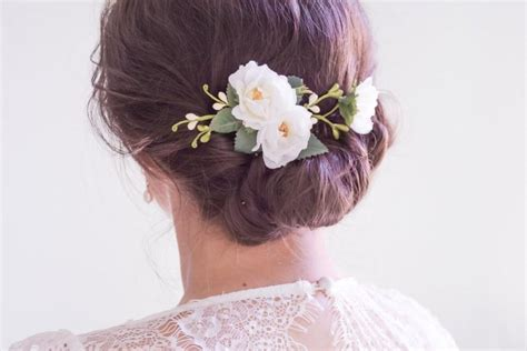 Wedding Hair With Roses by Wedding Hair Clip Bridal Headpiece White Flower Hair