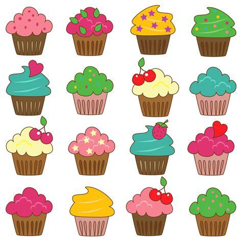 printable cupcake images decorated cupcakes clipart image cake clipart best