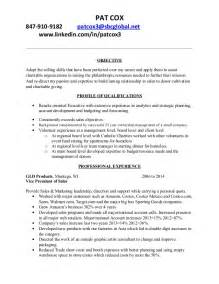 Resume For Board Of Directors by Cox Nonprofit Resume
