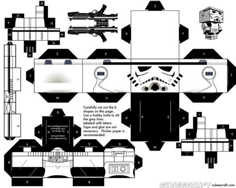 Black And White Papercraft - 86 best images about wars cubeecraft on